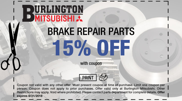 Mitsubishi Brake Repair Coupon