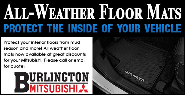 Mitsubishi All-Weather Floor Mats Coupon
