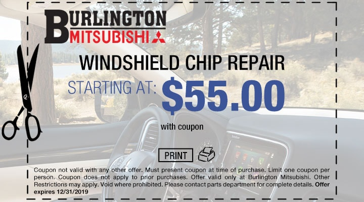 Mitsubishi Windshield Repair Coupon