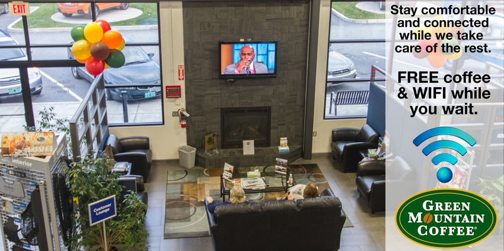 Burlington Subaru Service Customer Lounge