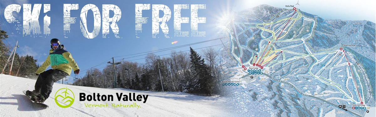 Ski Free with BurlingtonCars.com and Bolton Valley