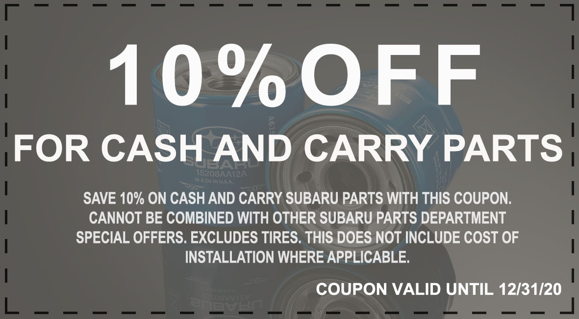 Subaru Parts Coupon