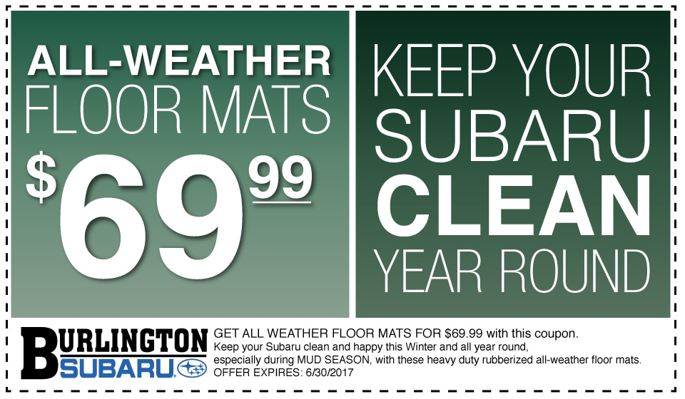 All-Weather Subaru Floor Mats Coupon