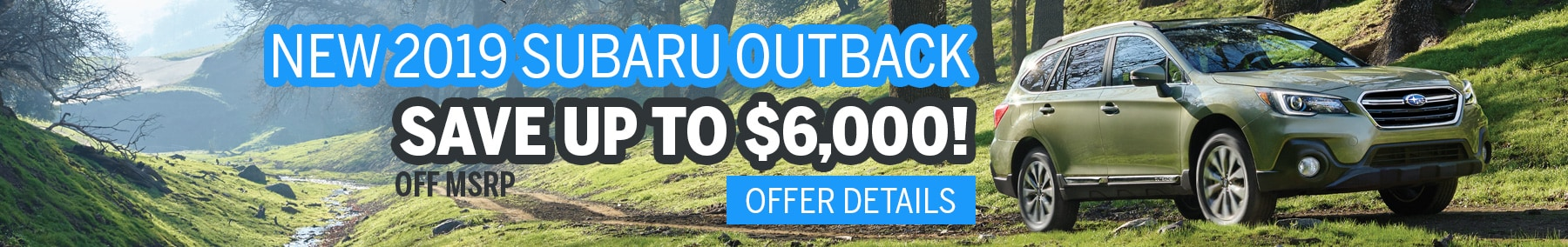 Save up to $6000 on a New Outback