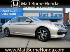 Certified pre-owned Honda vehicles 2017 Honda Accord LX Sedan for sale near you in Scranton, PA