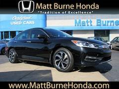 Certified pre-owned Honda vehicles 2016 Honda Accord EX Sedan for sale near you in Scranton, PA