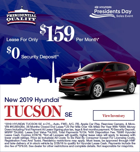New 2019 Hyundai Tucson SE