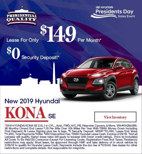 New 2019 Hyundai Kona SE