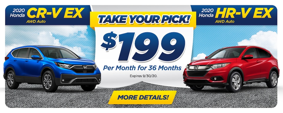 TAKE YOUR PICK - LEASE FOR $199 PER MO.