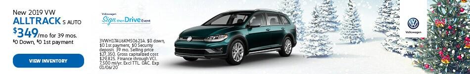 New 2019 VW Alltrack S Auto