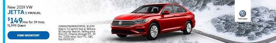 New 2019 VW Jetta S Manual