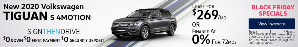 New 2020 Volkswagen Tiguan S 4MOTION