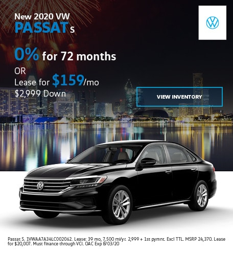 New 2020 VW Passat S