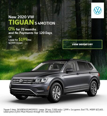 New 2020 VW Tiguan S 4MOTION