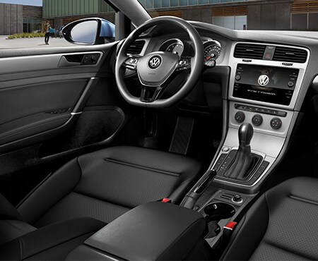 Interior dashboard of Volkswagen Golf