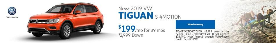 2019 Volkswagen Tiguan S 4MOTION