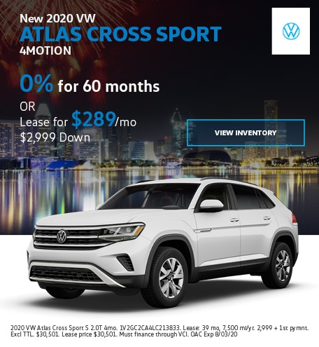 New 2020 VW Atlas Cross Sport 4MOTION