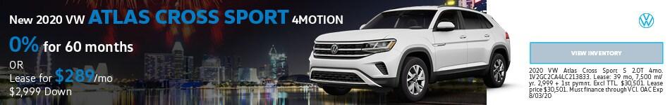New 2020 VW Atlas Cross Sport 4MOTION