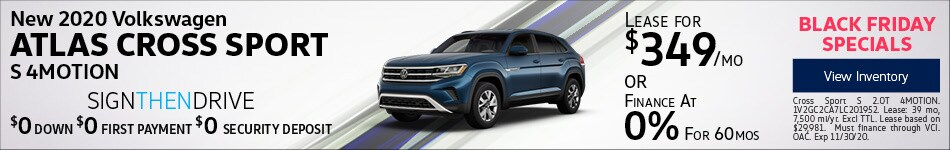 New 2020 Volkswagen Atlas Cross Sport S 4MOTION