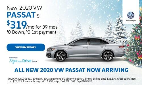 New 2020 VW Passat S