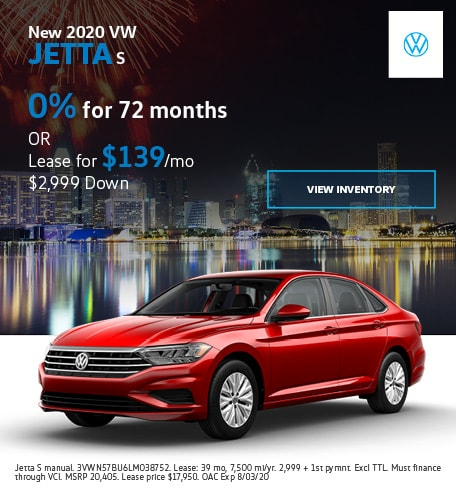 New 2020 VW Jetta S