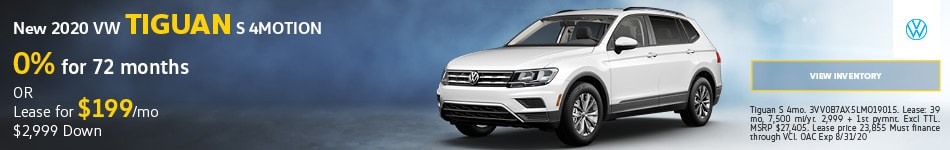 New 2020 VW Tiguan S 4MOTION