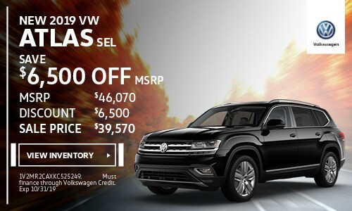 2019 Atlas SEL Save up to $6500 off MSRP