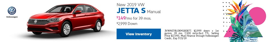 New 2019 VW Jetta