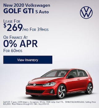 New 2020 Volkswagen Golf GTI S Auto