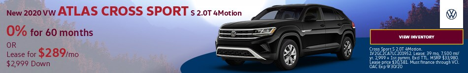 New 2020 VW Atlas Cross Sport S 2.0T 4Motion