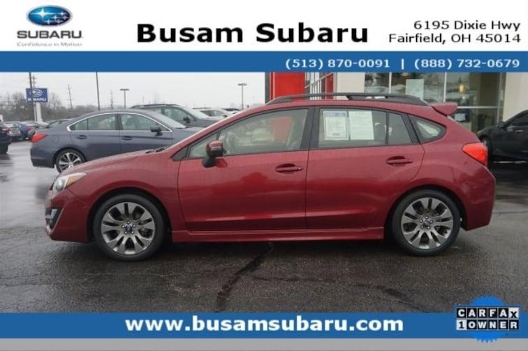 Certified Pre Owned 2016 Subaru Impreza 2.0i Sport Limited Hatchback JF1GPAY66G8213495 Cincinnati