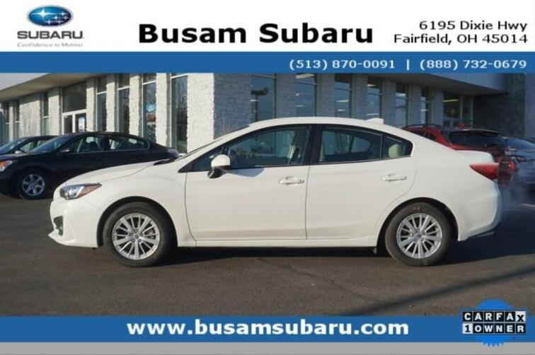 Certified Pre Owned 2018 Subaru Impreza 2.0i Premium Sedan 4S3GKAB62J3619778 Cincinnati