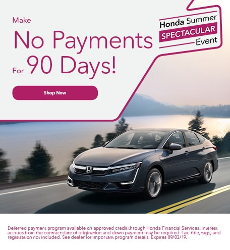 No Payments For 90 Days - August Special