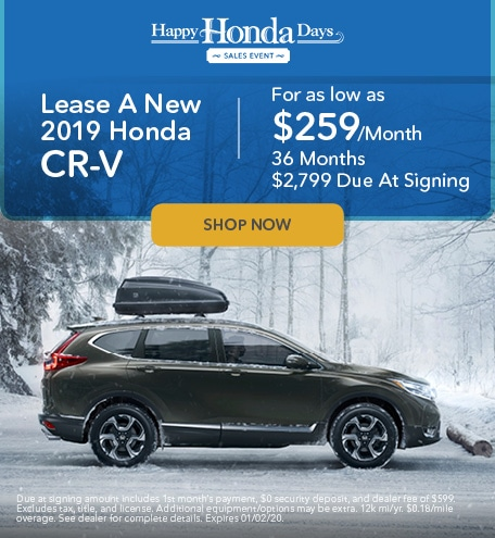 Lease A New 2019 Honda CR-V - November Special
