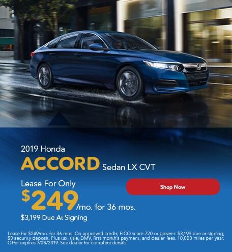 New 2019 Honda Accord - June Special