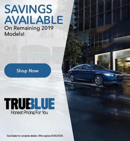 Savings On Remaining 2019 Models!