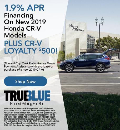 New 2020 Honda CR-V - Financing Offer