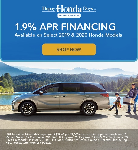1.9% APR Available on Select 2019 & 2020 Models!