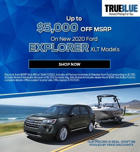 New 2020 Ford Explorer - Up To $5,000 OFF MSRP