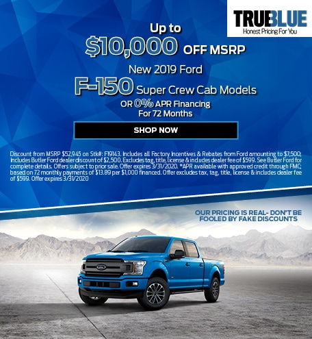 New 2019 Ford F-150 Models - Up To $10,000 OFF MSRP