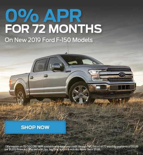 0% APR For 72 Months On 2019 F-150 Models