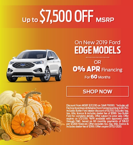 New 2019 Ford Edge Models - Up To $7,500 OFF MSRP