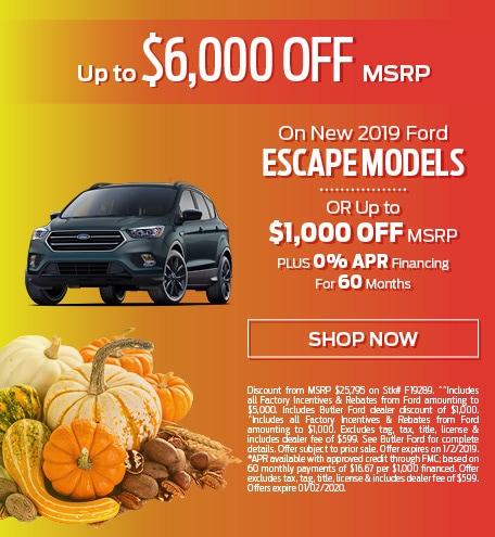New 2019 Ford Escape Models - Up To $6,000 OFF MSRP