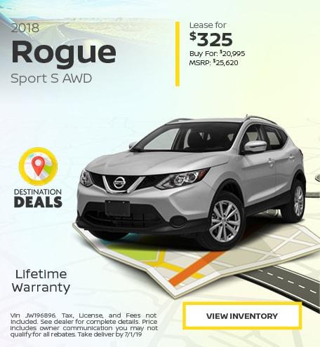 New 2018 Nissan Rogue Sport 6/13/2019