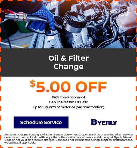 Oil and Filter Change Discount