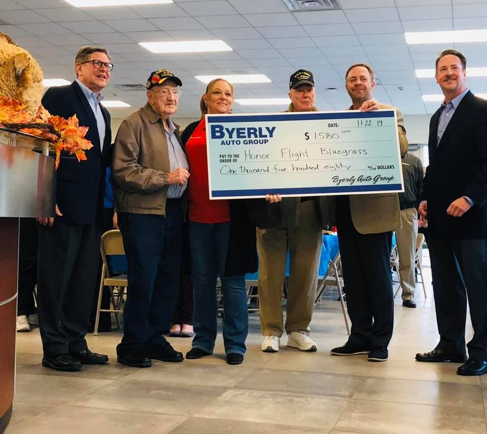 Byerly Auto Group Supports Honor Flight Bluegrass in Louisville