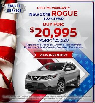 New 2018 Rogue Sport S AWD 5/15/2019