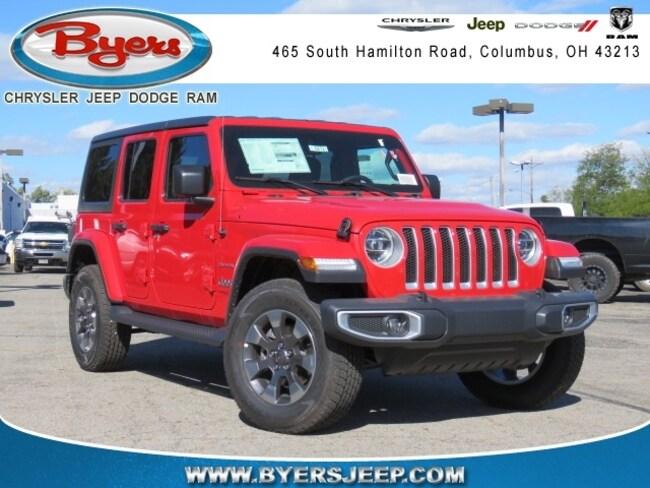 New 2018 Jeep Wrangler UNLIMITED SAHARA 4X4 Sport Utility in Columbus