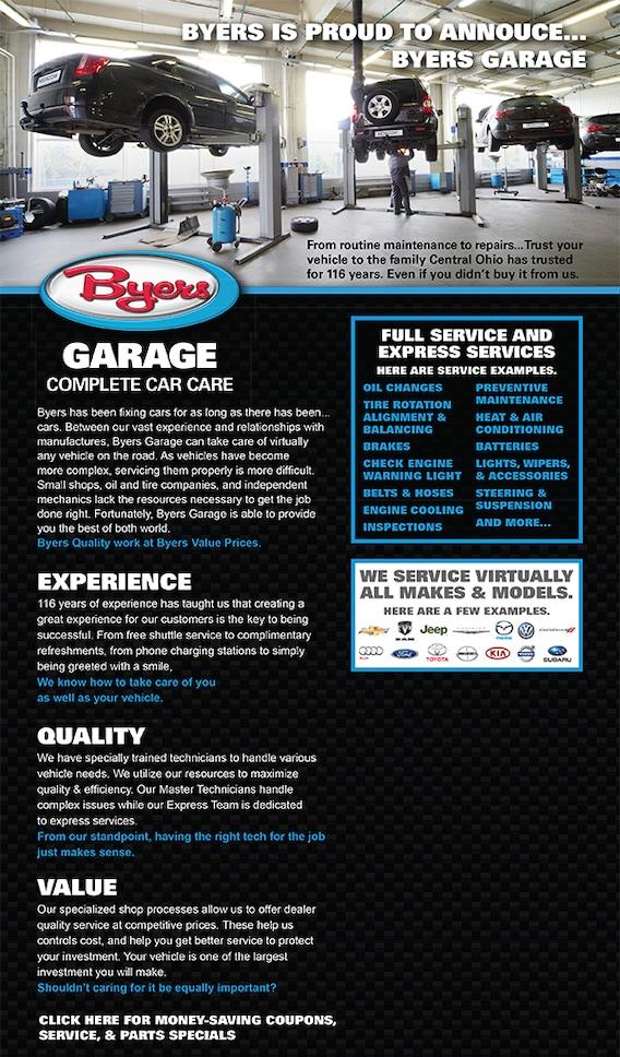 Oil Change Columbus Ohio >> Columbus Oh Car Care Service Byers Garage
