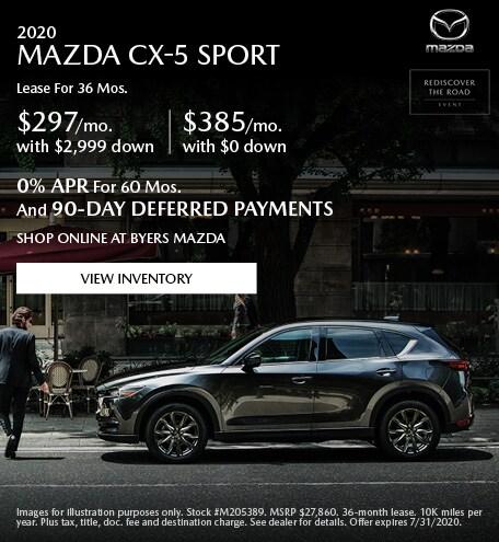 2020 MAZDA CX-5 Sport - Lease